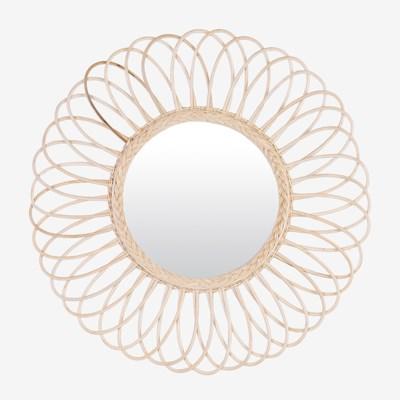 Irina Rattan Mirror - Large (D 31.5 x 0.8)