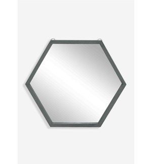 (LS) Zoe Hexagon Mirror - Gray