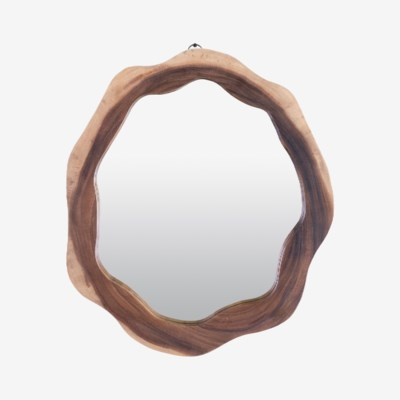Life Edge 3D Mirror Solid Suar Wood Frame (Size Varies) (22x2x24)