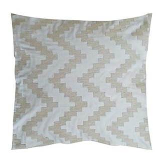 "Pillow 22"" X 22"" - Chunky dori tonal herringbone - Cream/Cream (feather/down inserts)"