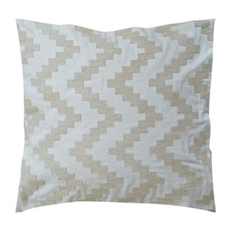 "Pillow 22"" X 22"" - Chunky dori tonal herringbone - Cream/Oatmeal (feather/down inserts)"