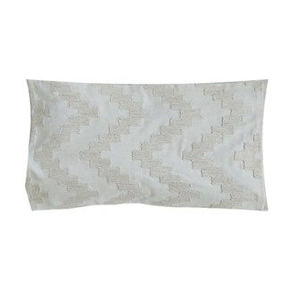 "Pillow 21"" X 13"" - Chunky dori tonal herringbone - Graphite (feather/down inserts)"