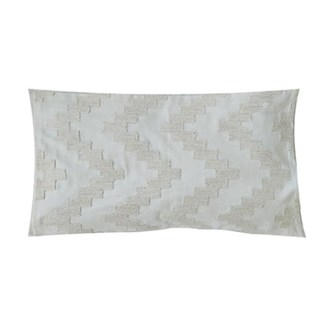 "Pillow 21"" X 13"" - Chunky dori tonal herringbone - Cream/Oatmeal (feather/down inserts)"