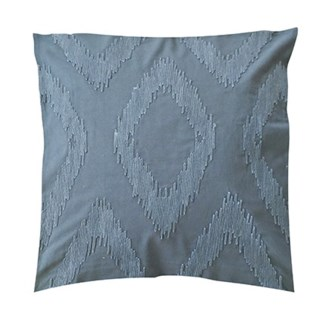 "Pillow 22"" X 22"" - Chunky dori tonal diamond - Cream/Oatmeal (feather/down inserts)"