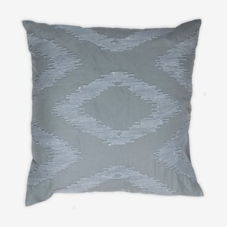 "Pillow 22"" X 22"" - Chunky dori tonal diamond - Graphite (feather/down inserts)"