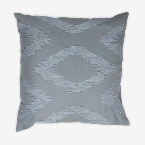 "(LS) Cadence Tonal Diamond Square Pillow (22"" x 22"") - Graphite"