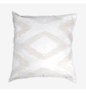"(LS) Cadence Tonal Diamond Square Pillow (22"" x 22"") - Oatmeal"