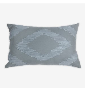 "(LS) Cadence Tonal Diamond Lumbar Pillow (21"" x 13"") - Graphite"