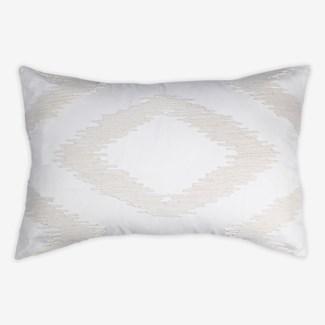 """Cadence Tonal Diamond Lumbar Pillow (21"""" x 13"""") - Oatmeal"""