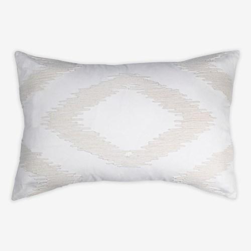 """(LS) Cadence Tonal Diamond Lumbar Pillow (21"""" x 13"""") - Oatmeal"""