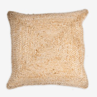 "Pillow 22"" X 22"" - Braided natural fiber (feather/down inserts)"