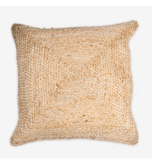 "Rowan Braided Natural Fiber Square Pillow (20"" X 20"")"
