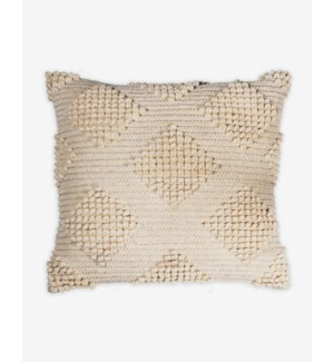 "(LS) Karina Woven Diamond Square Pillow (22"" x 22"") - Oatmeal"