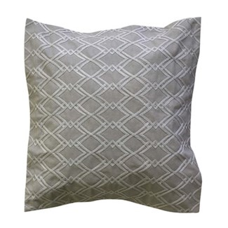 "Pillow 22"" X 22"" - Diamond tonal Dori emboridery Taupe (feather/down inserts)"