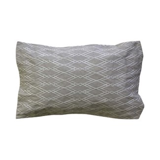 "Pillow 21"" X 13"" - Diamond tonal Dori emboridery Taupe (feather/down inserts)"