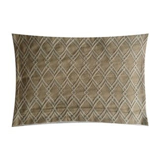 "Pillow 21"" X 13"" - Diamond tonal Dori emboridery (feather/down inserts)"