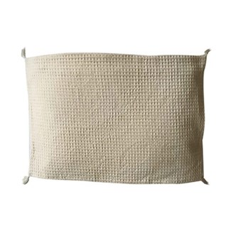 "Pillow 22"" X 22"" - Waffle weave with corner tassles - Oatmeal (feather/down inserts)"