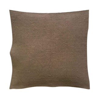 "Pillow 22"" X 22"" - Waffle weave with corner tassles - Taupe (feather/down inserts)"