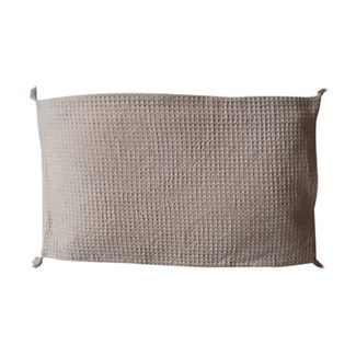 "Pillow 21"" X 13"" - Waffle weave with corner tassles - Light Gray (feather/down inserts)"