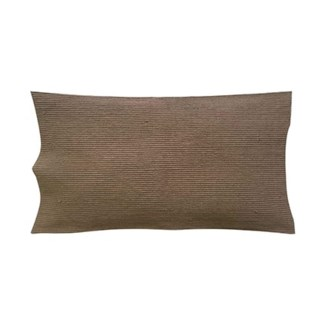 "Pillow 21"" X 13"" - Waffle weave with corner tassles - Taupe (feather/down inserts)"