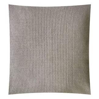 "Pillow 22"" X 22"" - Tonal woven stripe - Light Grey (feather/down inserts)"
