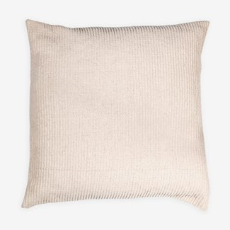 "Pillow 22"" X 22"" - Tonal woven stripe - Oatmeal (feather/down inserts)"