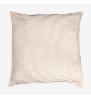 "(LS) Amber Woven Stripe Square Pillow (22"" X 22"") - Oatmeal"