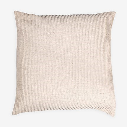 "Amber Woven Stripe Square Pillow (22"" X 22"") - Oatmeal"