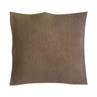 "Pillow 22"" X 22"" - Tonal woven stripe - Taupe (feather/down inserts)"