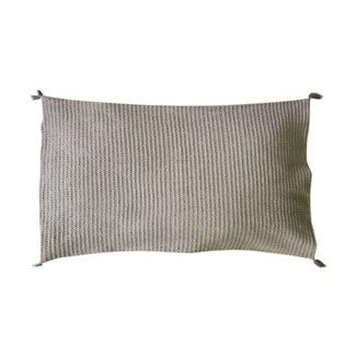 "Pillow 21"" X 13"" - Tonal woven stripe - Light Grey (feather/down inserts)"