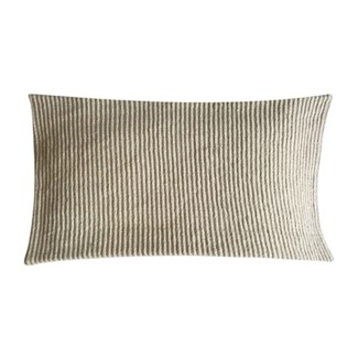 "Pillow 21"" X 13"" - Tonal woven stripe - Oatmeal (feather/down inserts)"