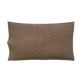 "Pillow 21"" X 13"" - Tonal woven stripe - Taupe (feather/down inserts)"