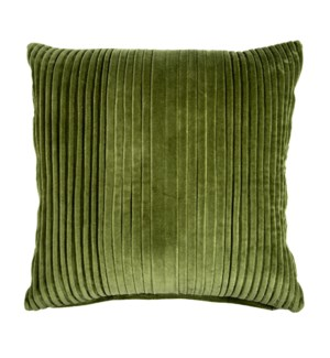 "Maisie 20"" Square Pleated Pillow, Green"