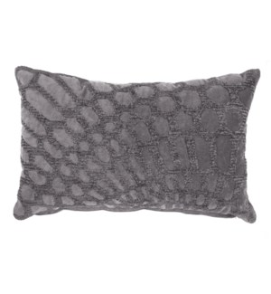 Alden Lumbar Embroidered Pillow, Grey
