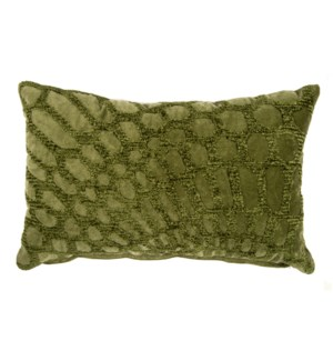 Alden Lumbar Embroidered Pillow, Green