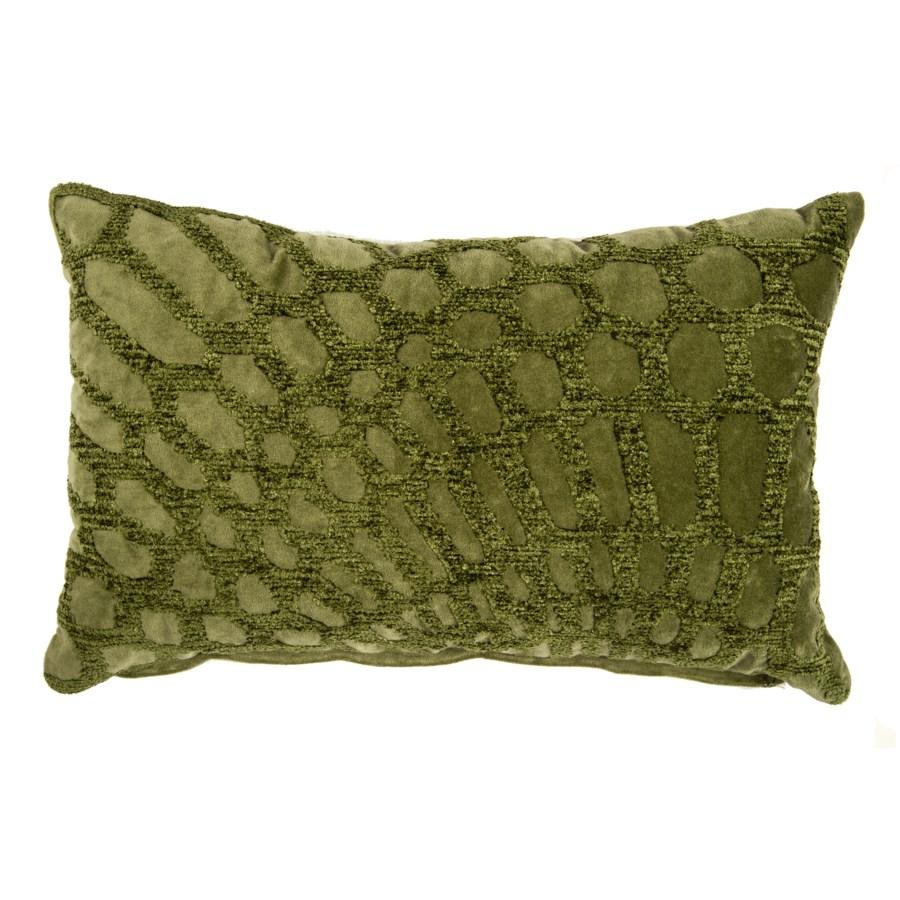 Alden Lumbar Embroidered Pillow, Green