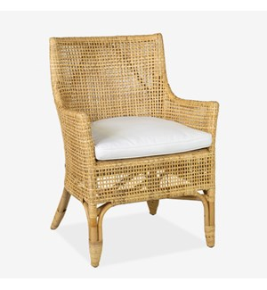 Aura Open weave Arm Chair 24X27X36 - honey