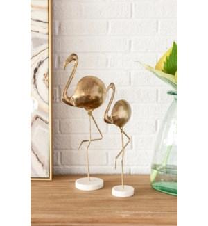 Maraal Iron Flamingo(Sml), Marble Base
