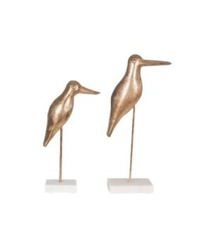Kaua Metal Bird on Marble Stand(Sml)