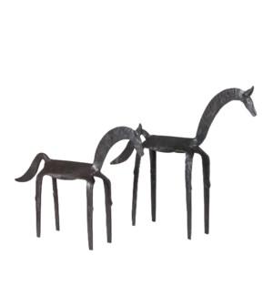 Ghoda Iron Horse Set (Lg, Med), Black Rust