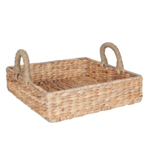 "Cobb 16"" Square Waterhyacinth Tray, Natural"
