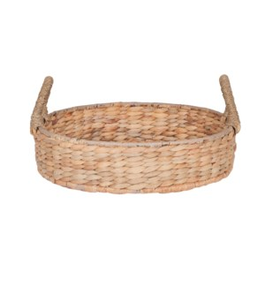 "Cobb 18"" Round Waterhyacinth Tray, Natural"