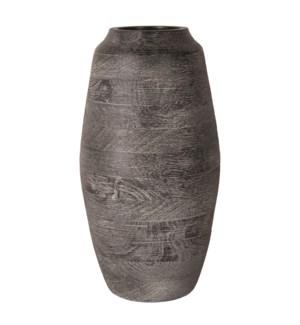 "Kasar 15"" Wood Vase"