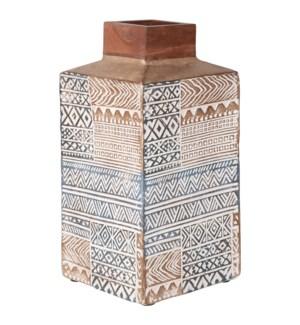Anisa Square Vase9x9x18.25
