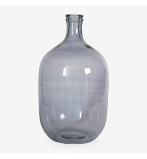 "19.5"" H Oval Glass Vessel - Smoke"