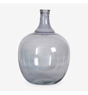 "18"" H Round Glass Vessel  - Smoke"