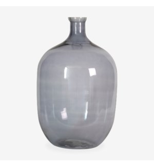 "22.5"" H Oval Glass Vessel - Smoke"