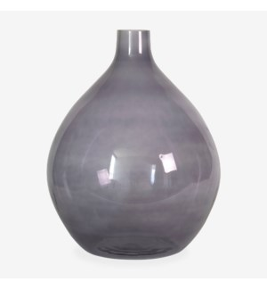 "17"" H Round Glass Vessel - Amethyst"