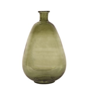Aster Hammered Glass Vase, Green