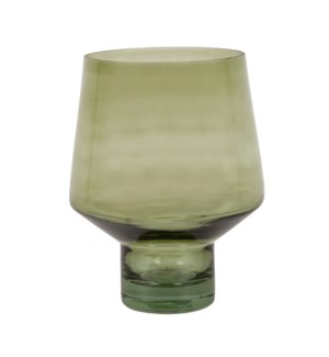 Pilea Glass Vase, Green